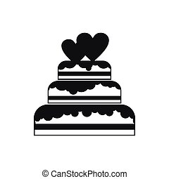 Wedding cake icon, simple style - Wedding cake in simple...