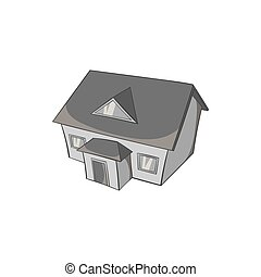 Large house with attic icon