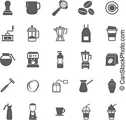 Barista icon on white background, stock vector
