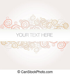Banner background arabesque vector