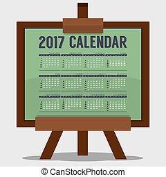 2017 Printable Calendar 12 Months Starts Sunday Art or Study...