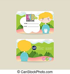 VIP Kids Member Card Template - Front And Back VIP Kids...