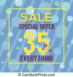 Special Offer 35 Percent On Colorful Blue Bubbles And...