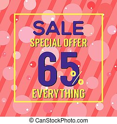 Special Offer 65 Percent On Colorful Pink Bubbles And...