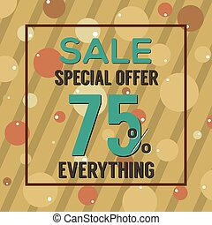 Special Offer 75 Percent On Brown Bubbles And Stripes Vector...