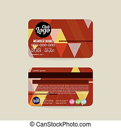 Front And Back Member Card Template
