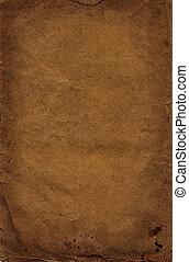 brauner, bohnenkaffee, altes, dunkel, Papier, hintergrund