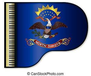 Grand Piano North Dakota Flag - The North Dakota state flag...