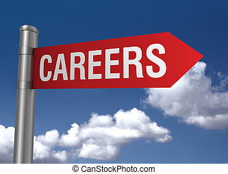 career ahead road sign