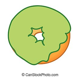 Green Frosted Donut