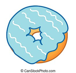 Blue Frosted Donut