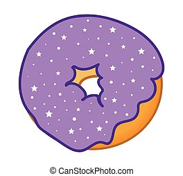 Purple Sprinkles Frosted Donut