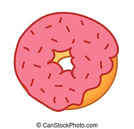 Red Sprinkles Frosted Donut
