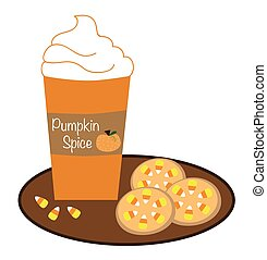 Pumpkin Coffee and Cookies