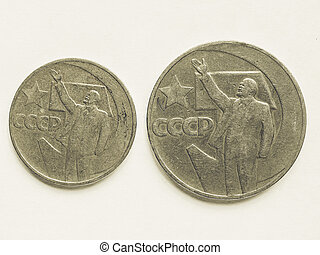 Vintage Vintage Russian ruble coin - Vintage looking Vintage...