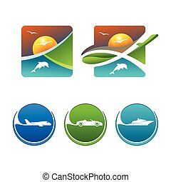 Colorful Miscellaneous Vector Travel Icons