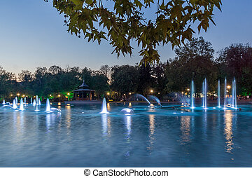 Singing Fountains in Plovdiv - Amazing Sunset over Singing...
