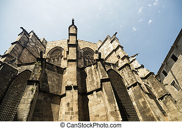 Barcelona Spain: the gothic cathedral - Barcelona Catalunya,...