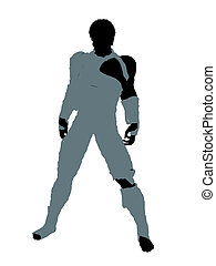 African American Male Mummy Illustration Silhouette -...