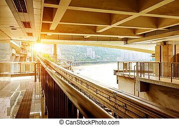 No one subway station - Nobody metro station, Chongqing,...