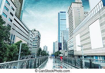 Rain Chengdu, China - Heavy rain in Chengdu, the famous...