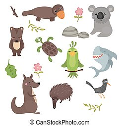 Vector set of different animals of - Set of different...