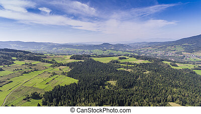 Mountain landcsape at summer time in south of Poland View...