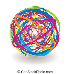 elastic band icon - Abstract elastic band icon ball with...