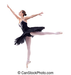 ballerina wearing black tu tu - ballerina wearing black tutu...
