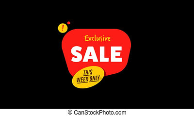 Isolated sale sticker with alpha channel - Special offer...