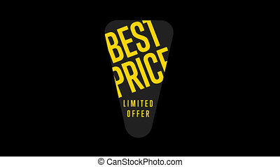 Best price banner with special offer shopping tag, discount...