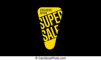 Isolated sale sticker with alpha channel. Sale tag. Special...