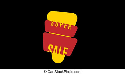 Isolated sale sticker - Sale tag with special offer,...
