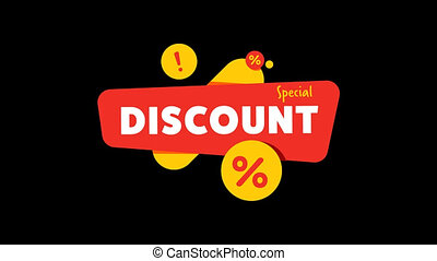Discount banner with special offer shopping tag