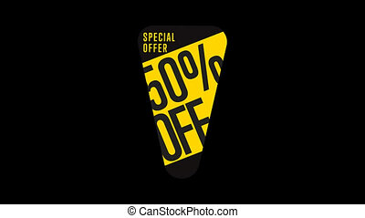 Isolated sale sticker with alpha channel
