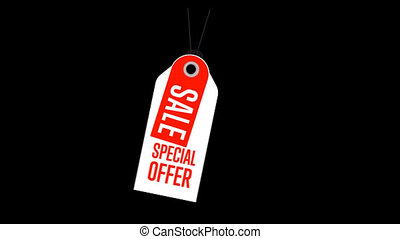 Special offer sale tag, discount symbol of retail, sticker...