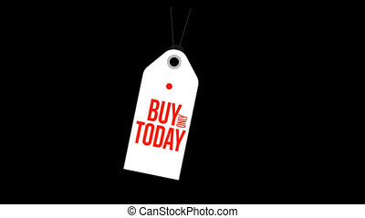 Buy today special offer banner with alpha channel.