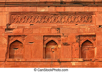 Ali Isa Khan tomb - India - Intricate detail of the Ali Isa...