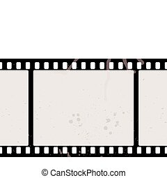 film strip concept - Illustrated film strip with grunge...
