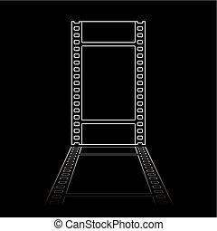 simple film reel illustration