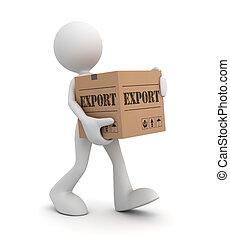 export cardboard box concept 3d illustration