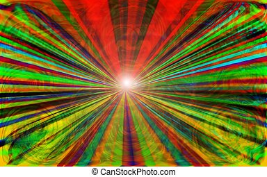 Abstract Tunnel - Abstract tunnel leading to the light of...