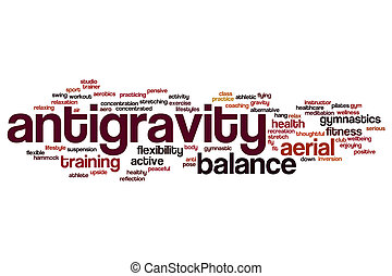 Antigravity word cloud concept