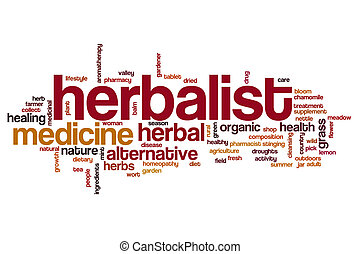 Herbalist word cloud concept