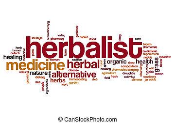 Herbalist word cloud concept