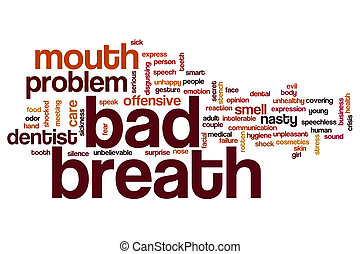 Bad breath word cloud concept