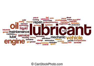 Lubricant word cloud