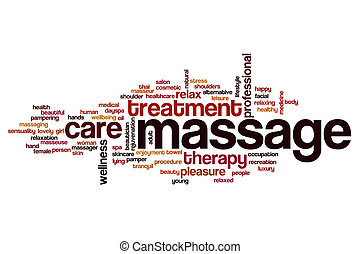 Massage word cloud concept