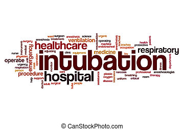Intubation word cloud concept