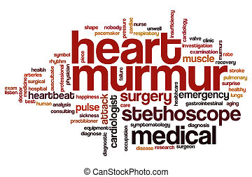 Heart murmur word cloud - Heart murmur  word cloud concept